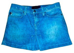 Juicy Couture Size Large Mini Pleated Summer Cute Jeans P52 Mini Skirt DENIM