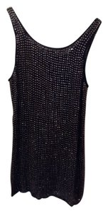Haute Hippie Mini Silk Tank Beaded Dress