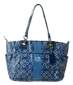 Coach Diaper Large Canvas 15561 Tote in Blue