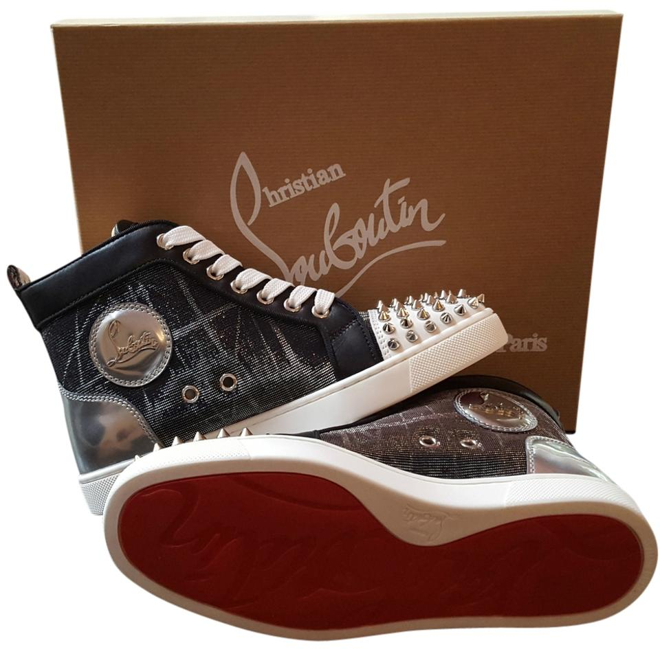 b153d5ab93fb Christian Louboutin Black/Silver Lou Spikes Sneakers Size US 12 ...