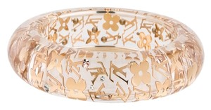 Louis Vuitton Clear Beige Gold LV logo floral monogram Louis Vuitton Inclusion bangle New