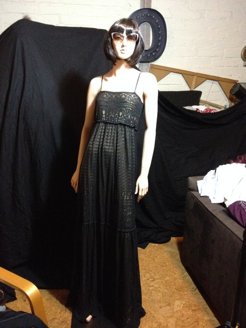 Black And Nude Maxi Dress by Max Studio Lace Summer Spring Maxi