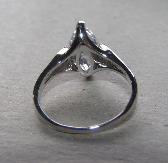 Silver Bogo Marquis Cut White Sapphire Free Shipping Engagement Ring