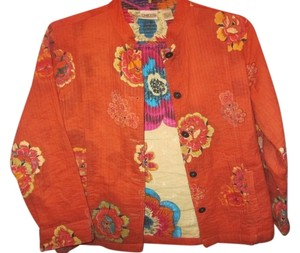 Chico's burnt orange with print Jacket