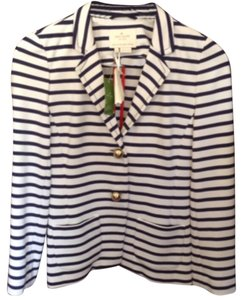 Kate Spade Navy/white stripes with gold buttons Blazer