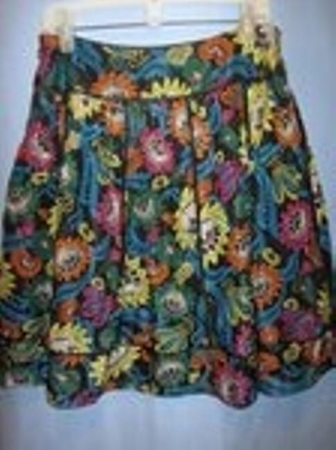 Kay Unger Skirt black with floral print