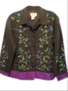 Coldwater Creek black with embroidery Blazer