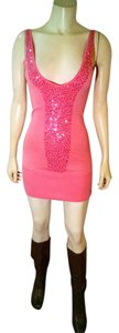 bebe short dress pink Bodycon Mini Above Knee Sequins Stretch P1819 on Tradesy
