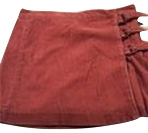 Juicy Couture Mini Pleated Pleated Red Burgandy Size 6 Size 8 Small Medium Flattering Feminine Girly Chic Stylish Mini Skirt