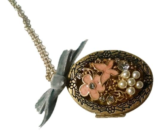 Preload https://img-static.tradesy.com/item/8460556/betsey-johnson-antiqued-gold-light-pink-gray-flower-locket-bow-pendant-j1486-necklace-0-6-540-540.jpg