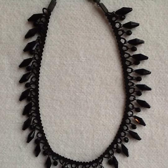Other Vintage Black Choker With Hanging Beads