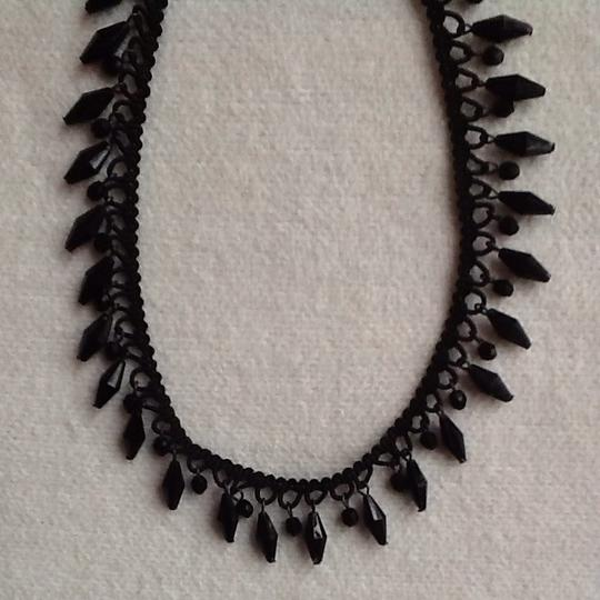 Other Vintage Black Choker With Hanging Beads Image 3