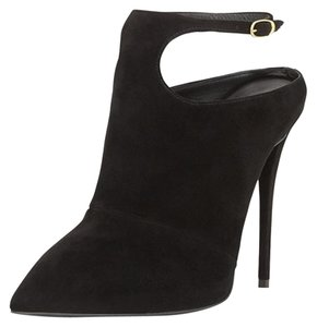 Giuseppe Zanotti Suede Suede Ankle Strap Ankle Strap Black Boots