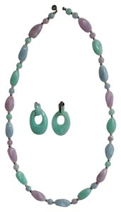 Other Pastel Necklace And Matching Earrings
