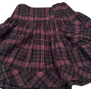Urban Outfitters Plaid Feminine Grey Pink Small Skirt Pink/Grey
