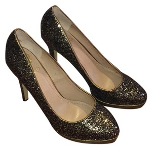 Vince Camuto Gold/Black Platforms