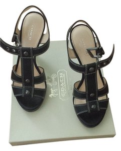Coach Leather Black Sandals