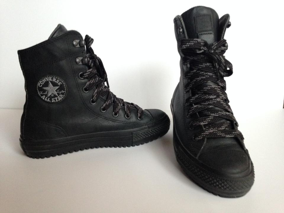 Converse Black Taylor All Star Hi rise Leather Boot Sneakers Size US 7 Regular (M, B)