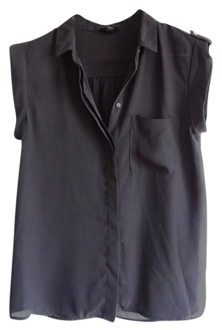 Preload https://item2.tradesy.com/images/mossimo-supply-co-black-button-down-blouse-size-4-s-846286-0-2.jpg?width=400&height=650