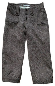 INTERMIX Riding Cropped Tweed Capri Capri/Cropped Pants Brown