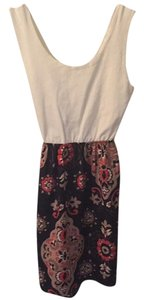 short dress White, floral on Tradesy