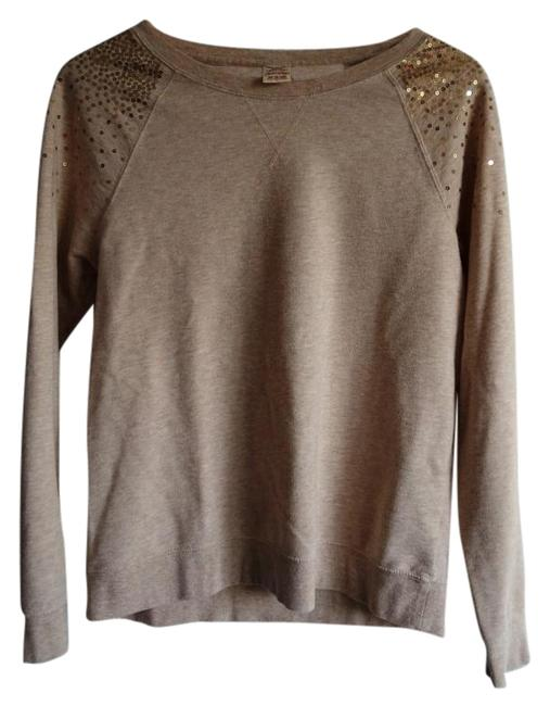 Preload https://item4.tradesy.com/images/faded-glory-beige-sequin-sweaterpullover-size-8-m-846303-0-3.jpg?width=400&height=650