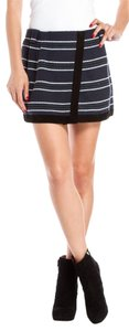 Proenza Schouler Mini Proenza Navy Striped Black White Skirt navy/black/white