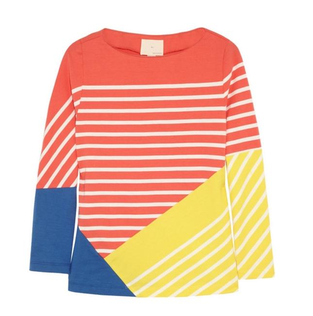 Band of Outsiders Breton Striped Color Block Sweater Band of Outsiders Breton Striped Color Block Sweater Image 4