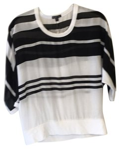James Perse Top Black & white