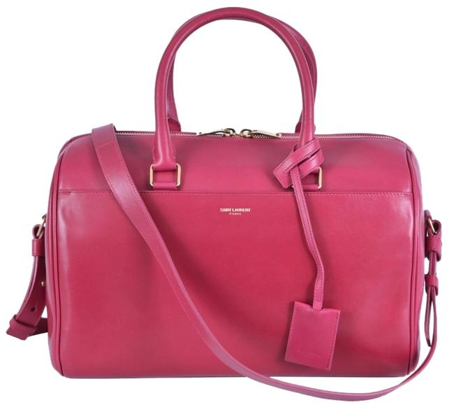 Item - Duffle New Ysl 150 322049 Classic Convertible Satchel Purse Pink Leather Messenger Bag
