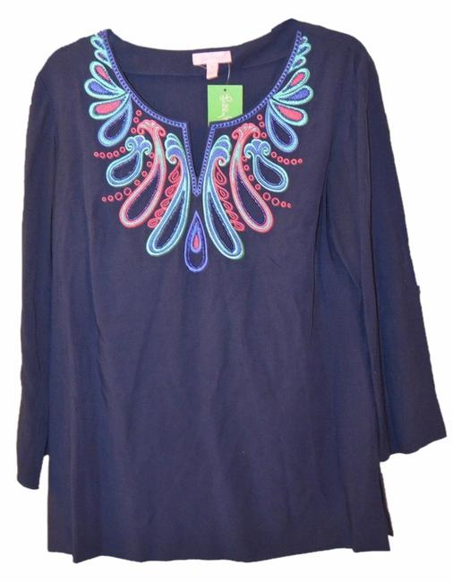 Preload https://img-static.tradesy.com/item/8464543/lilly-pulitzer-blue-charlotte-navy-medium-with-tags-tunic-size-8-m-0-2-650-650.jpg