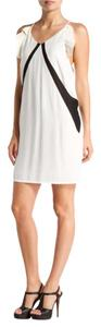 Maje short dress white Shift Amos Ruffle Trims Ruffle Mesh Shift on Tradesy