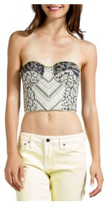 Matthew Williamson Bustier Cropped Blouse Printed Festive Spring Silk Top