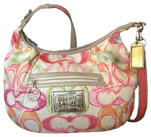 Coach Limited Edition Signature Poppy Cross Body Bag