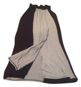 Malloy Maxi Skirt Black and gray