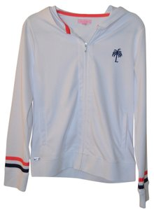 Lilly Pulitzer Lilly Pulitzer PALM LOGO White, Coral and Navy Hooded Zip Up Brand New Size M