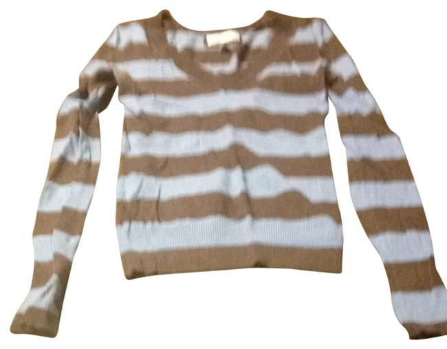Preload https://item3.tradesy.com/images/american-eagle-outfitters-bluebrown-striped-sweaterpullover-size-4-s-846602-0-0.jpg?width=400&height=650