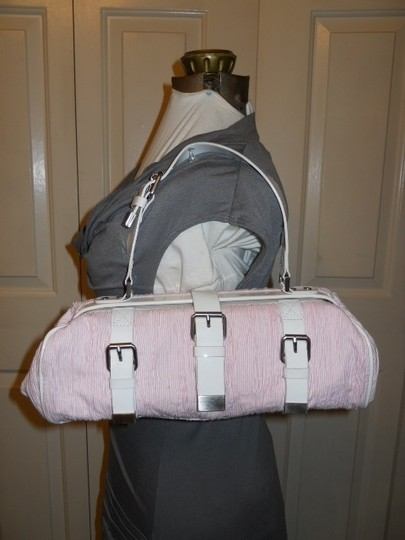 Cynthia Rowley Satchel in pink & white