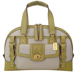 Coach Limited Edition Vintage Satchel in Natural Canvas/Citron