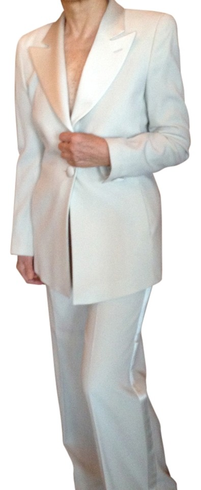 Emporio Armani Winter White Women S Tuxedo Or Smoking Pant Suit