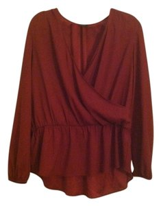 Ann Taylor Top Deep Red
