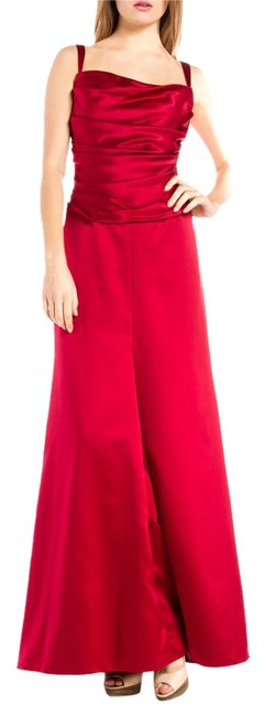 Item - Red Wedding Silk Gown Long Formal Dress Size 14 (L)