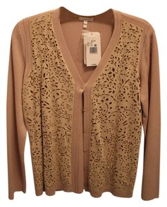 Escada Laser Cut Knit Cardigan
