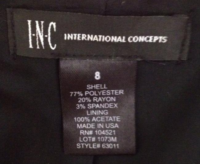 INC International Concepts Top Black Pinstripe