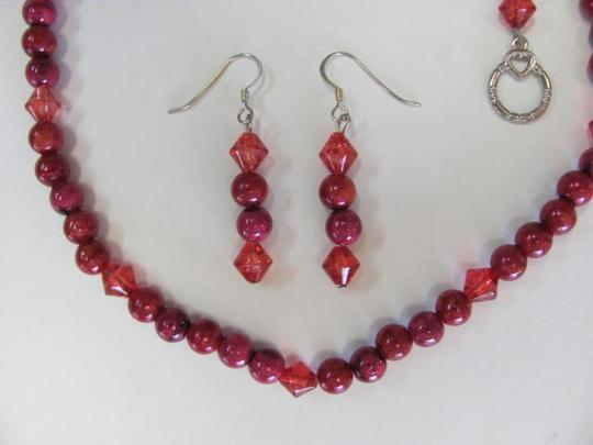 other NEW RED BEAD SET!