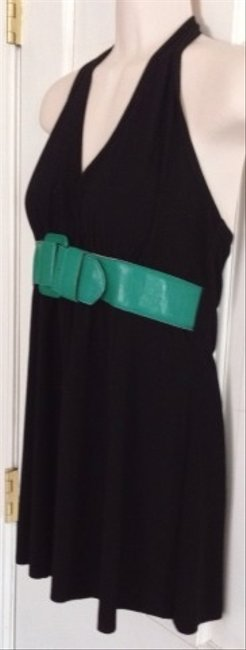 Body Central Top Black Green