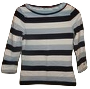 Tommy Hilfiger Striped 3/4 Sleeve T Shirt light blue/dark blue and white - item med img
