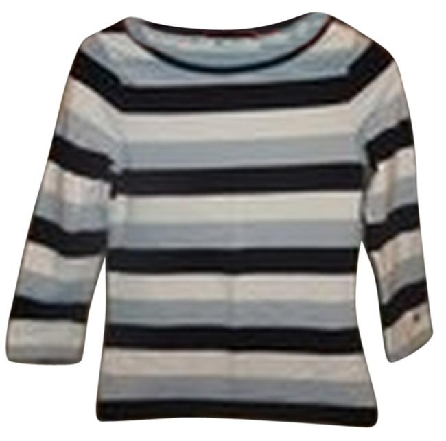 Preload https://img-static.tradesy.com/item/8471248/tommy-hilfiger-light-bluedark-blue-and-white-striped-34-sleeve-tee-shirt-size-2-xs-0-2-650-650.jpg