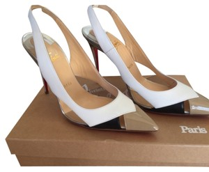 Christian Louboutin White, black, nude & silver. Pumps