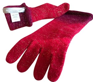 Nordstrom Nordstrom ombr red/purple gloves